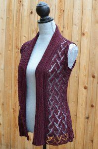 This pretty lace knit vest from the knitters over at Bijou Basin Ranch is a great way to layer as the weather gets cooler. Angelica Vest by Marly Bird is available for FREE in the Best of Stitches Midwest pattern eBook!
