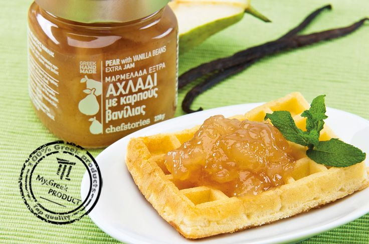 Jam with whole pieces of pear and fresh vanilla seeds. Particularly fragrant and distinctive flavor.