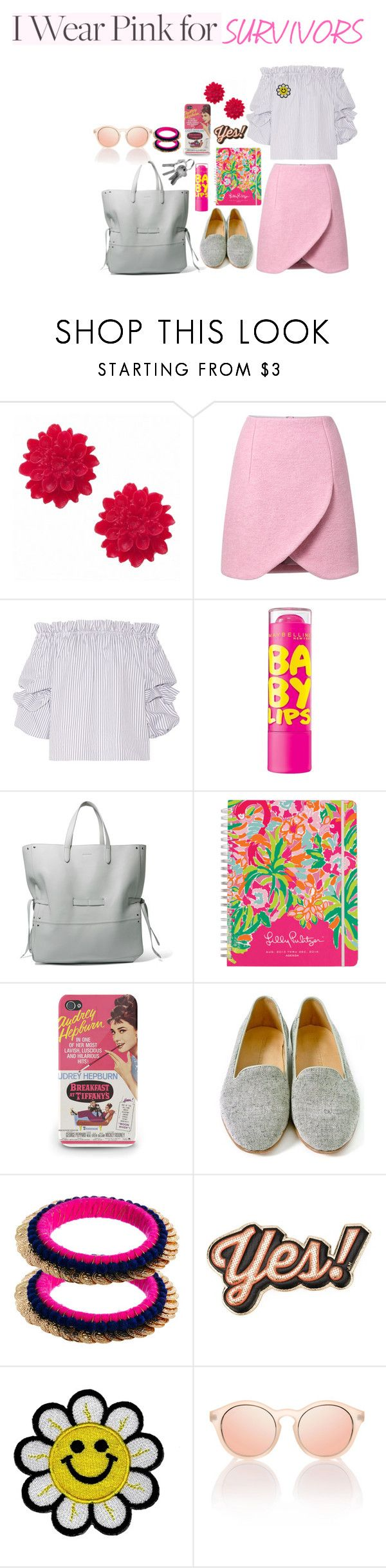 """""""Untitled #297"""" by racita on Polyvore featuring Carven, Caroline Constas, Jil Sander, Lilly Pulitzer, Dieppa Restrepo, Kasturjewels, Anya Hindmarch and IWearPinkFor"""