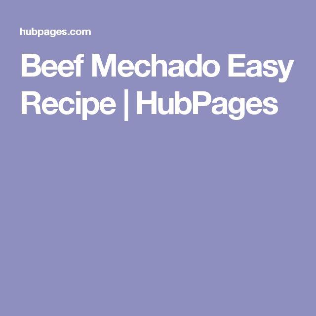 Beef Mechado Easy Recipe | HubPages