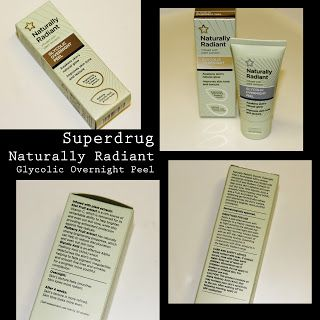 MichelaIsMyName: Superdrug Naturally Radiant Glycolic Overnight Pee...