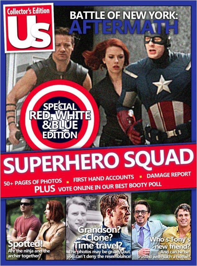 les avengers en vrai en couverture de magazine 3   Les Avengers en vrai en couverture de magazine   tumblr photo parodie magazine Iron Man image hulk captain america avengers
