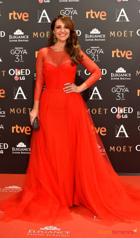 Premios Goyas 2017: Paula Echevarría, mujer de rojo   #style #fashion #spanishcelebrities #spanishicons #moda #redcarpet #premiosgoya #celebrities #celebritystyle #celebs