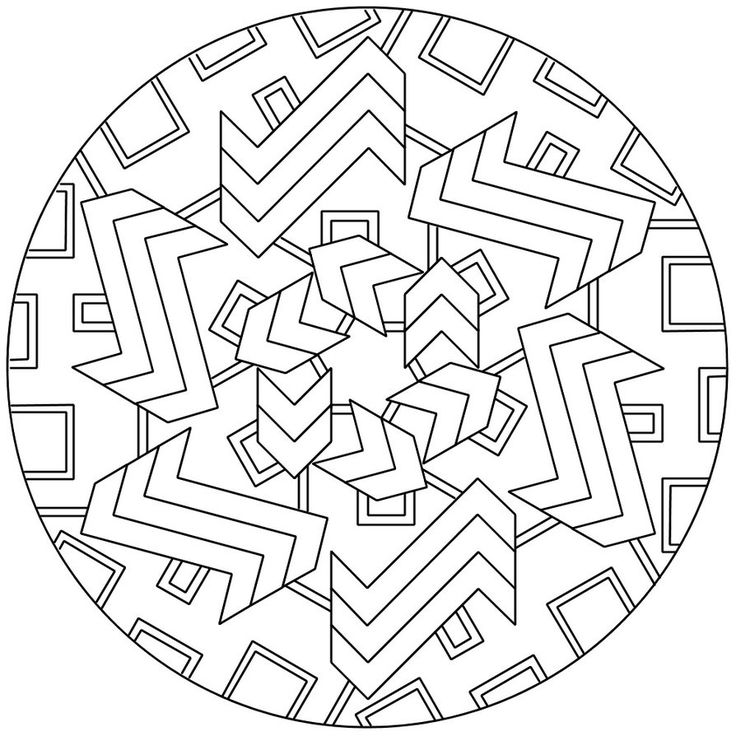 intricate geometric coloring pages - photo#36