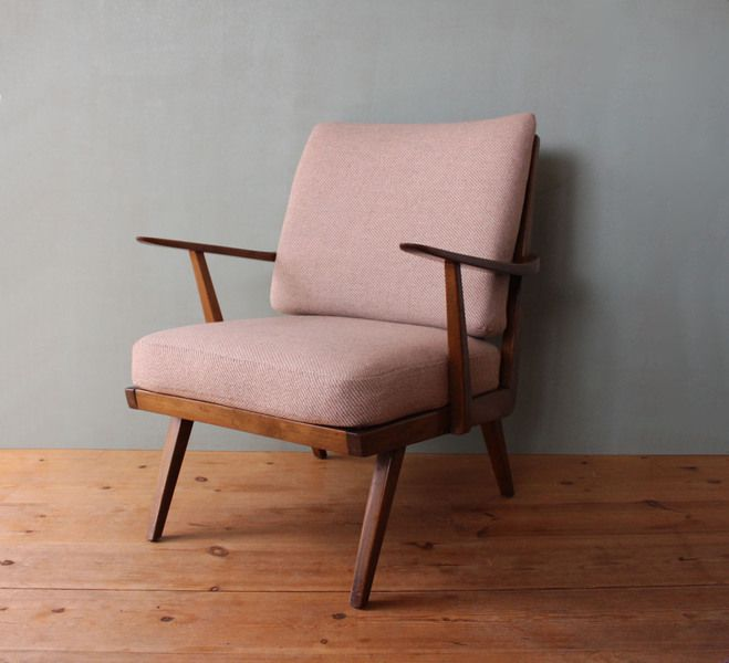 60s, retro, armchair, mid century modern, grey and pink, interior, home