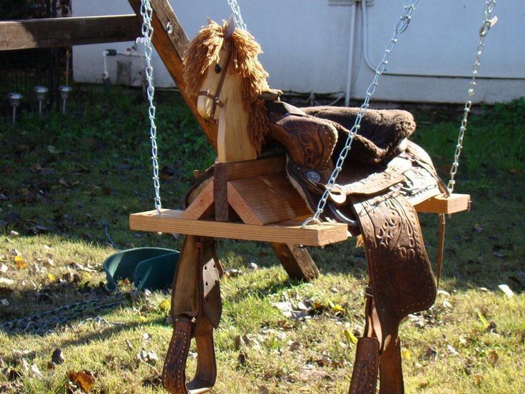 Saddle swing ~ This swing is fun for kids and adults to ride on. It's super comfortable to sit on and swing.
