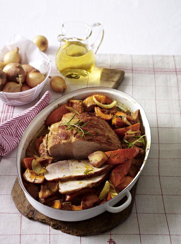 Unser beliebtes Rezept für Schweinebraten mit Kürbis und Quitten und mehr als 55.000 weitere kostenlose Rezepte auf LECKER.de.