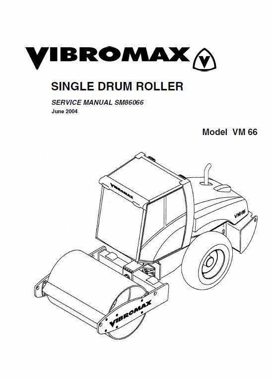 JCB Vibromax VM66 Single Drum Roller Service Manual