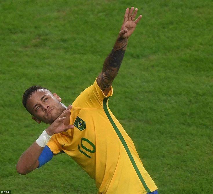 The Barcelona superstar struck a lightning bolt pose after he scored, which…