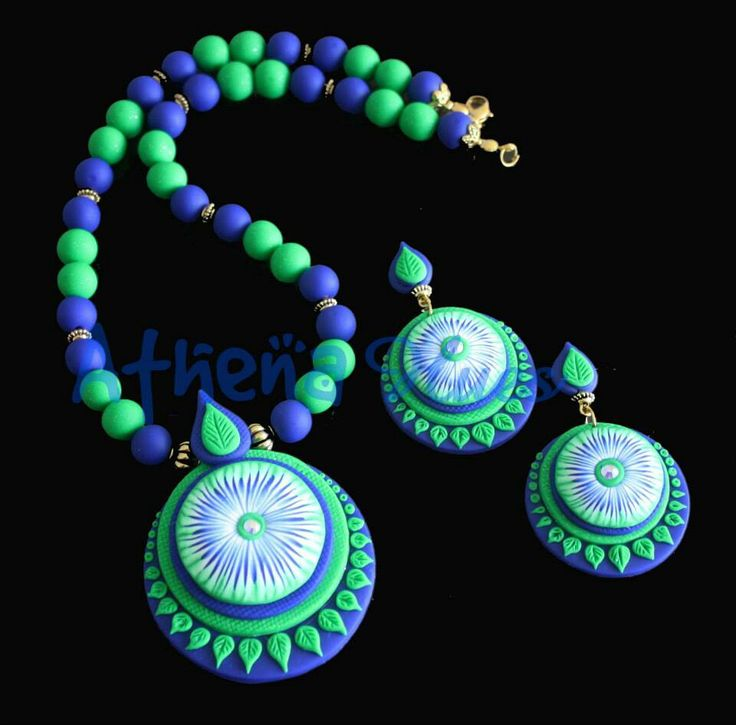 green and blue beads