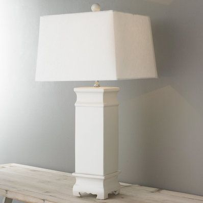 Contemporary eastern square jar table lamp
