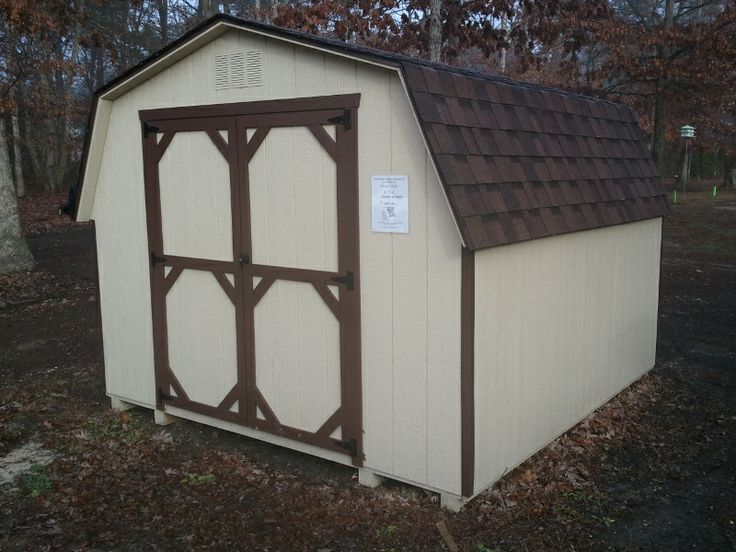 Almond sandstone white trim shed 10 x 10 economy shed w for Garden shed ventilation