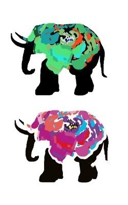 elephant watercolor illustration,
