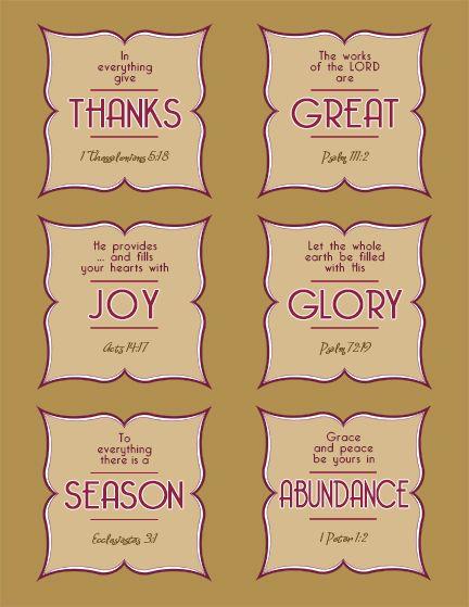 image regarding Printable Bible Verses Kjv called Thanksgiving bible verses craft kjv