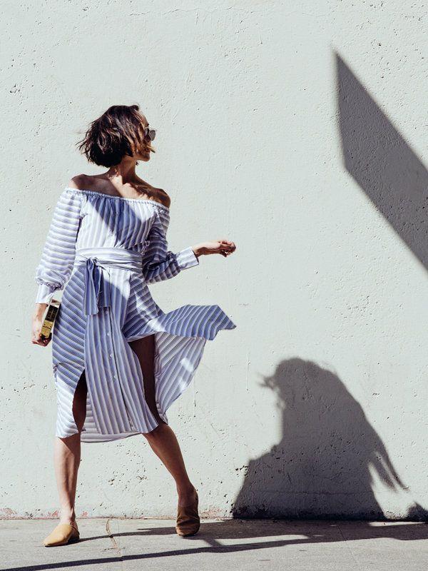 クリッセル・リム(Chriselle Lim) ドレス/エル サッソーン バッグ/エリン フェザーストーン シューズ/アクネ  クリッセルのブログ「The Chriselle Factor」 http://thechrisellefactor.com/