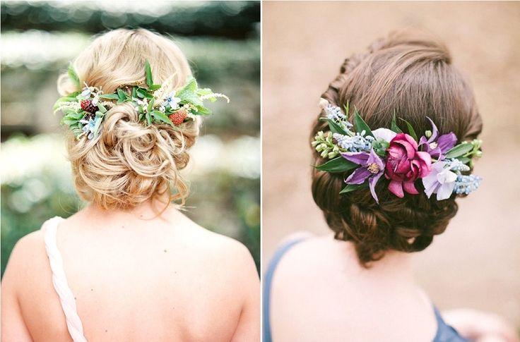 10 idées de chignons fleuris comme coiffure de mariée