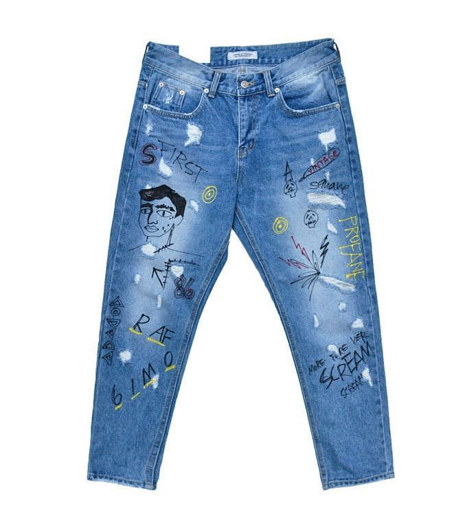The product Funky Print Relax Ankle Jeans 331 Streetwear Denim is sold by SNEAKERJEANS STREETWEAR SHOP & SNEAKERS SHOP in our Tictail store.  Tictail lets you create a beautiful online store for free - tictail.com