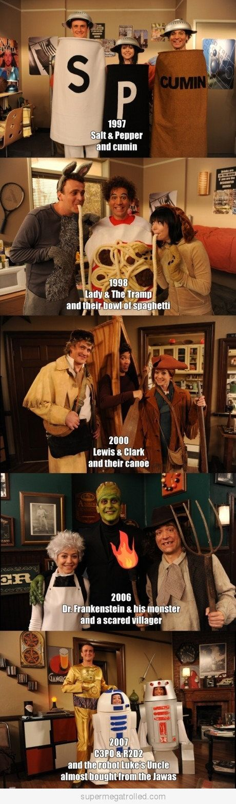 #Third Wheel Costumes- How I Met Your Mother @Angela Gray Gray Gray Gray Gray Castillo I'm so doing this next year with you and Gerson!!!!! lmao!!!!!  Like, comment and share it!