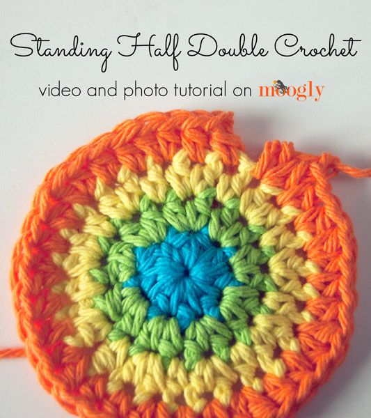 Standing Half Double Crochet - moogly.  Tutorial & great step by step photos!
