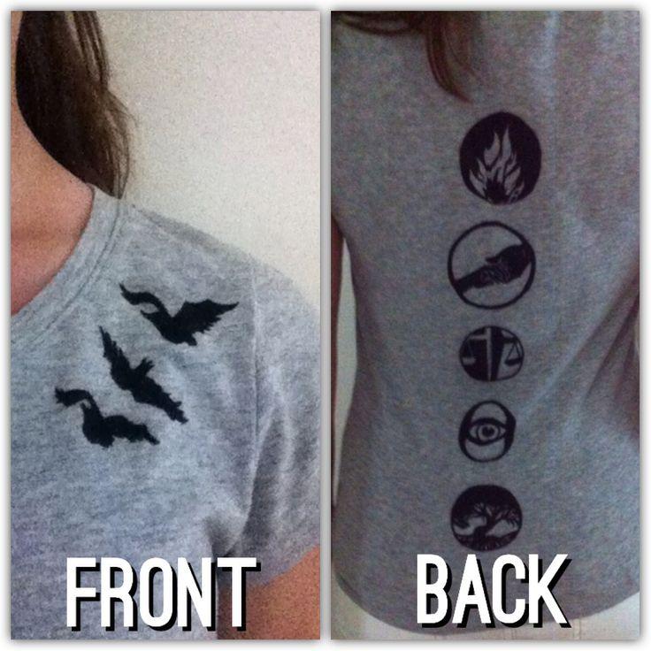 Divergent T-Shirt drawn on with sharpie by @Katie Hrubec Hrubec Hrubec Orgunova