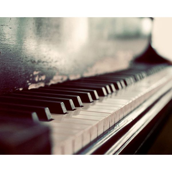 Piano Photography, Dark Melody, 8x10 Photograph, Monochromatic Macro Print, Still LIfe ($30) found on Polyvore