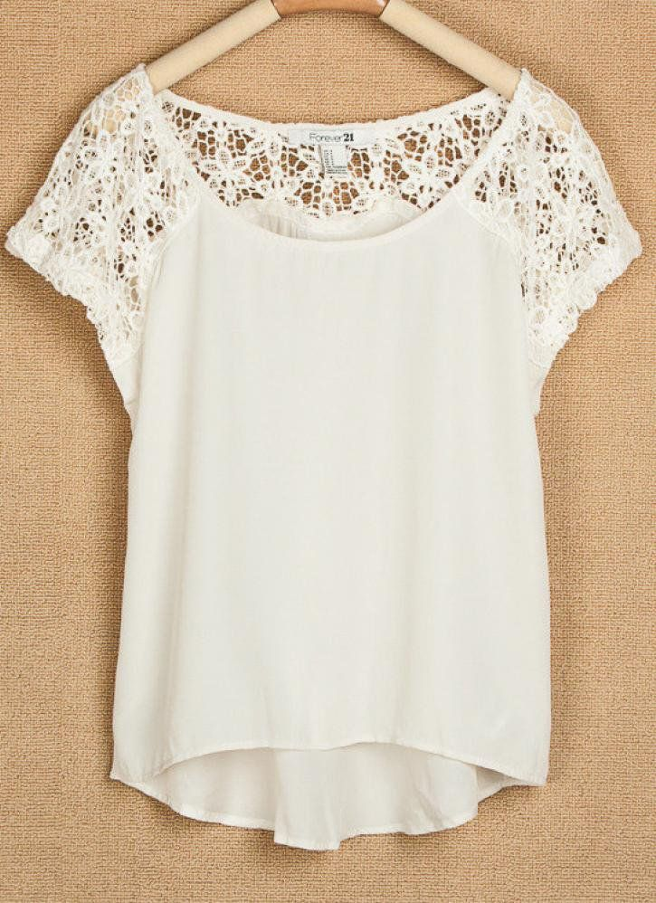 lace and chiffon top. forever 21