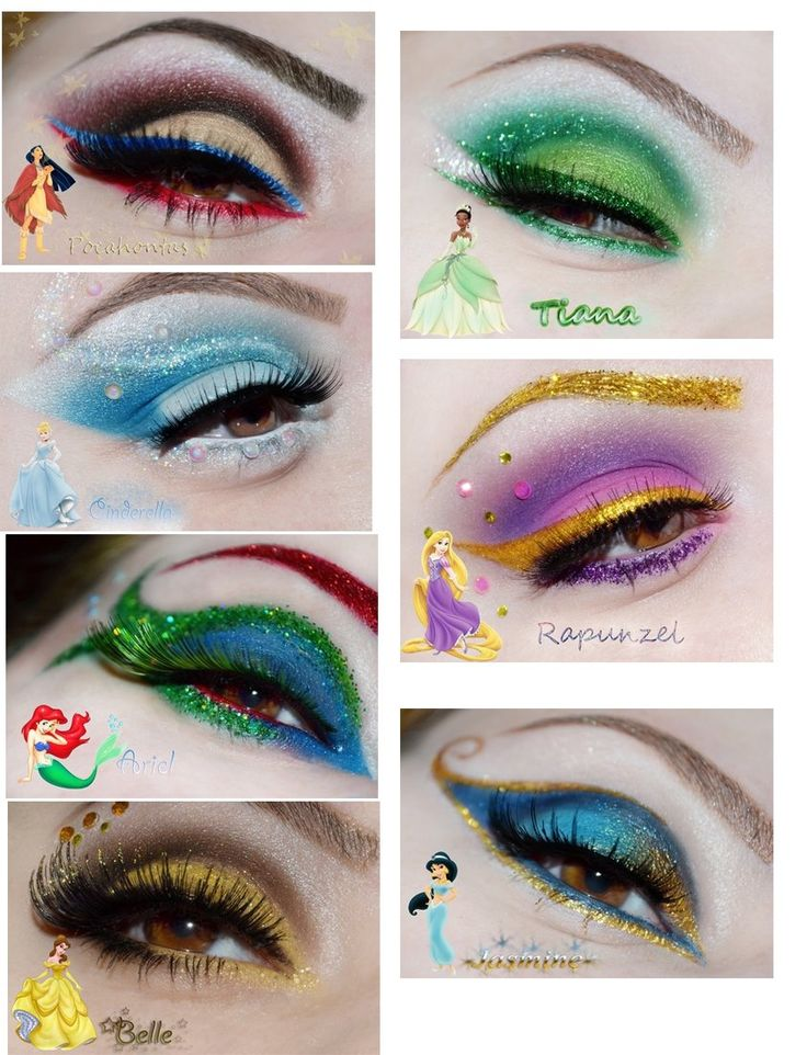 Disney Princess Make-up!!!!! So, pretty! If Kate is a princess for Halloween again sometime I will totally do this but, toned down a bit!