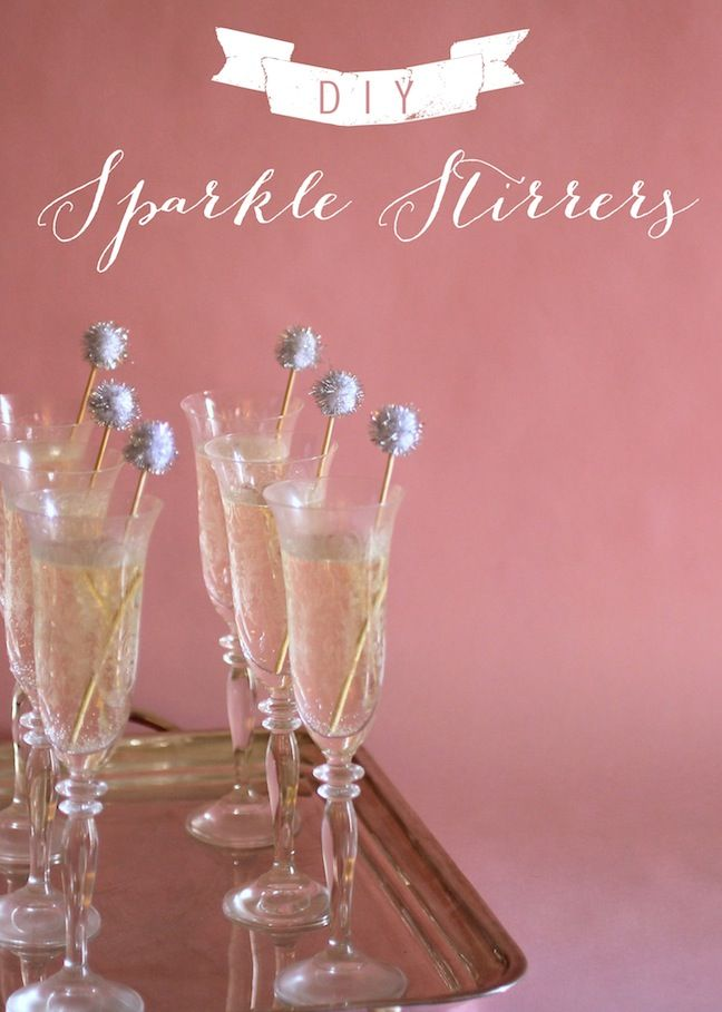 Linen, Lace, & Love: DIY Sparkle Stirrers #drinks #DIY