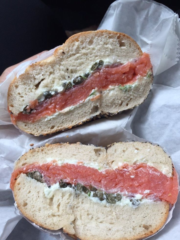 Ess-a-Bagel - New York, NY, United States. Nova lox, scallion cream cheese, capers, red onions on everything bagel. Untoasted and still so good