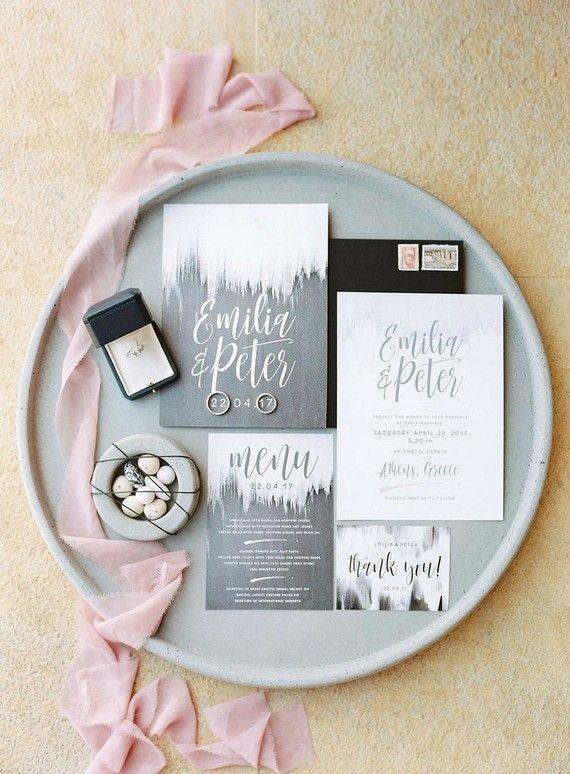Modern wedding invitations by www.atelier-invitations.gr #προσκλητήρια