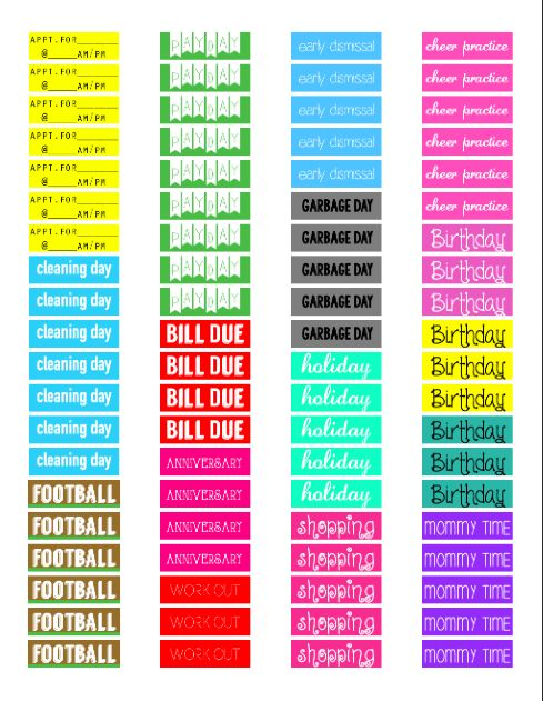 98 best Other Printables for Planners images on Pinterest - birthday planner template