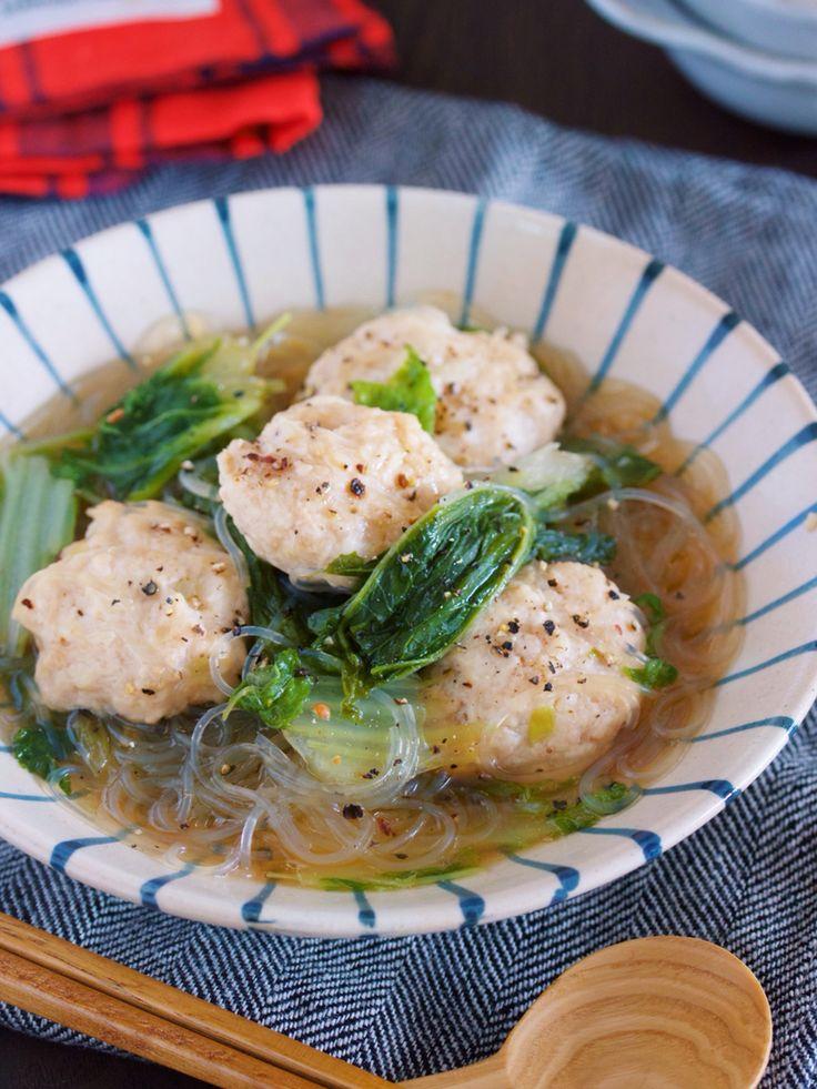 重ねて10分♪旨味エキスがじゅわ〜っ♪『鶏団子と白菜の重ねスープ煮