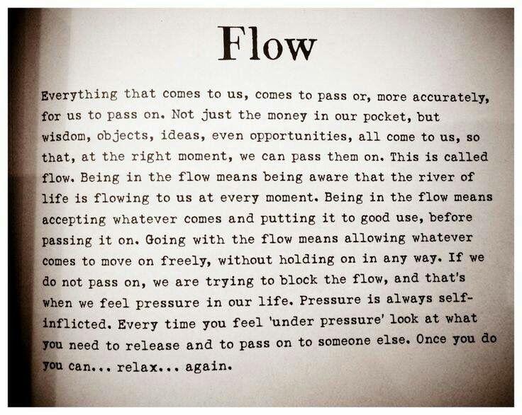 Do not block energy flow... Open up.