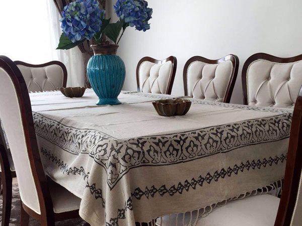 Block Printed Table Cloth Peshtemal