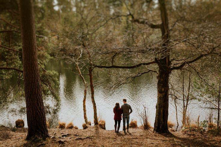 Enjoying a moment alone together. Photo by Benjamin Stuart Photography #weddingphotography #couple #woodland #engagementshoot #nature