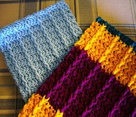 Double Crochet Front Post Crochet Scarf for OCC Shoebox ~ Pattern (With Link to Hat Pattern)