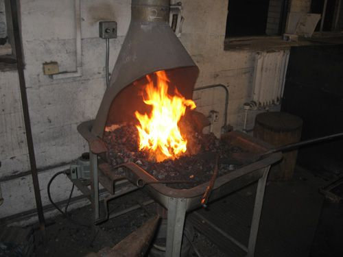 Old Fashioned Medieval Blacksmith Forge