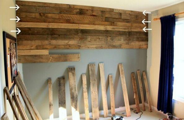 mur en palette de bois - Recherche Google