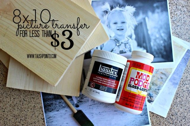 A quick, cheap & easy DIY. Transfer your favorite printed pictures to wood for $2.19!!