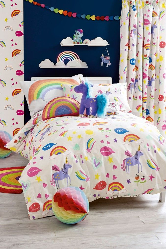 Unicorns Duvet Cover and Pillowcase Set