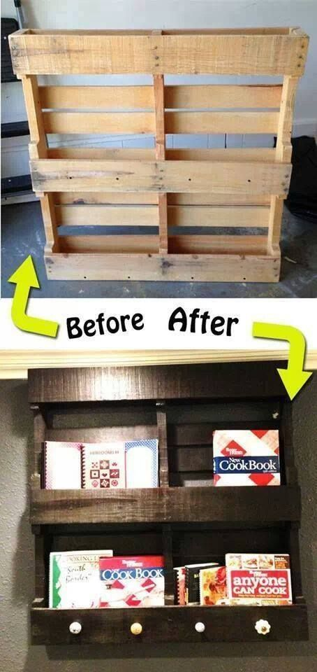Make a wall bookrack from a wood pallet. I bet a store near you has one they'd donate for the cute kids at your child care center. Show them pictures!