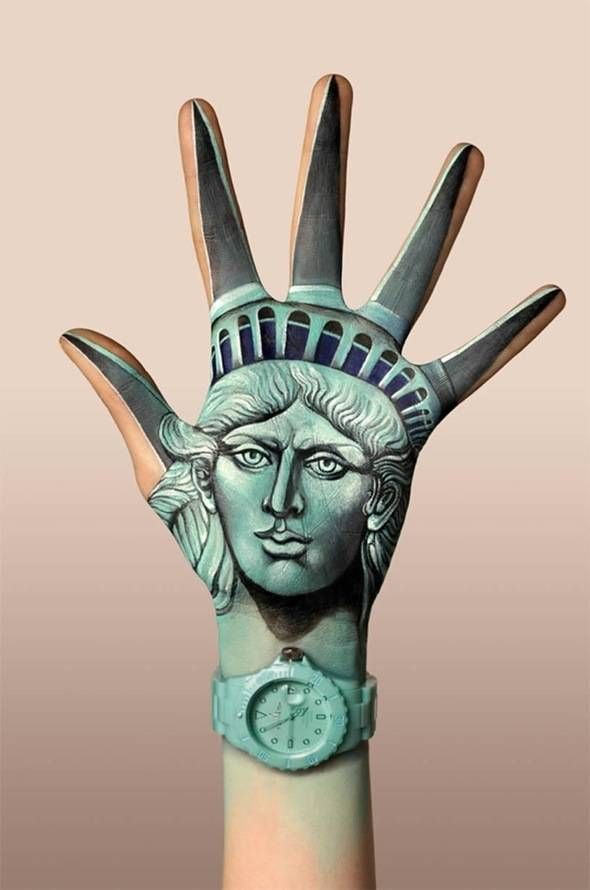 The Statue of Liberty by Guido Daniele for Toy Watch l #handpainting