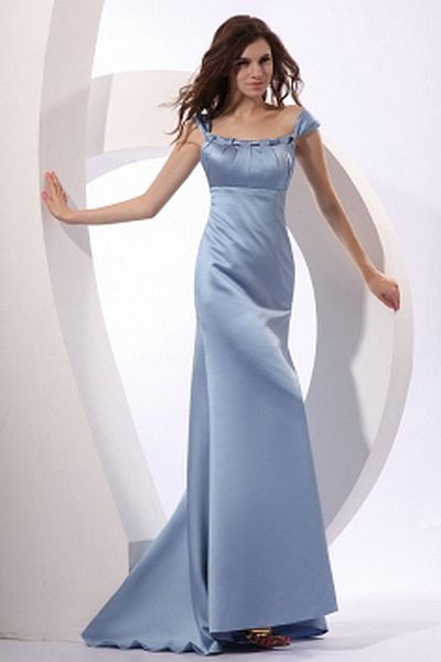 A-Line Satin Classic Party Dress wr2271 - http://www.weddingrobe.co.uk/a-line-satin-classic-party-dress-wr2271.html - NECKLINE: Scoop. FABRIC: Satin. SLEEVE: Short Sleeves. COLOR: Blue. SILHOUETTE: A-Line. - 144.59