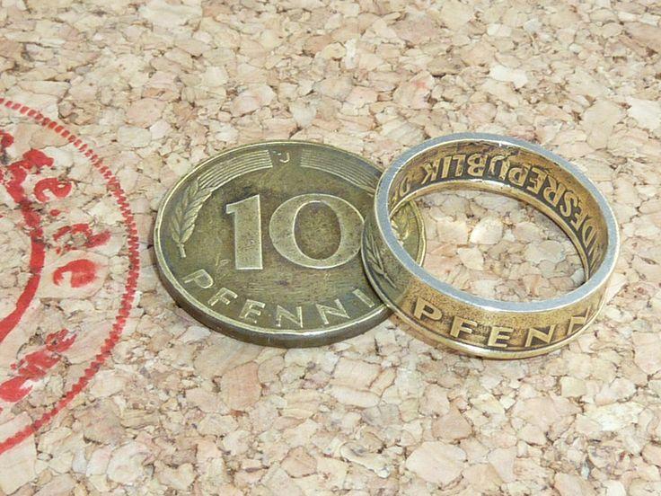 Ringe – Ring aus Original 10 Pfennig (DM) Münze – ein Designerstück von schmuck-checker bei DaWanda