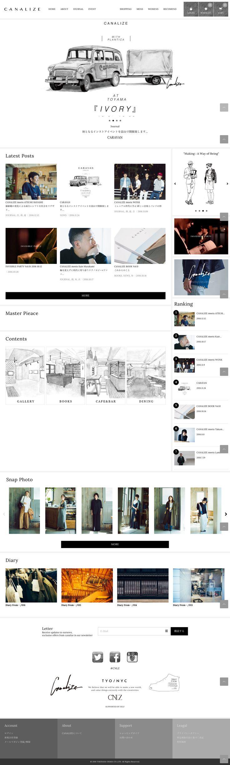 #shopping-store-web-design #portal #header-fix-layout #key-color-black #bg-color-white #Japanese #Flat-design #Slider #Handwritten
