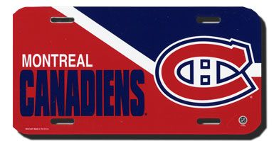 Montreal Candiens (Habs) License Plate