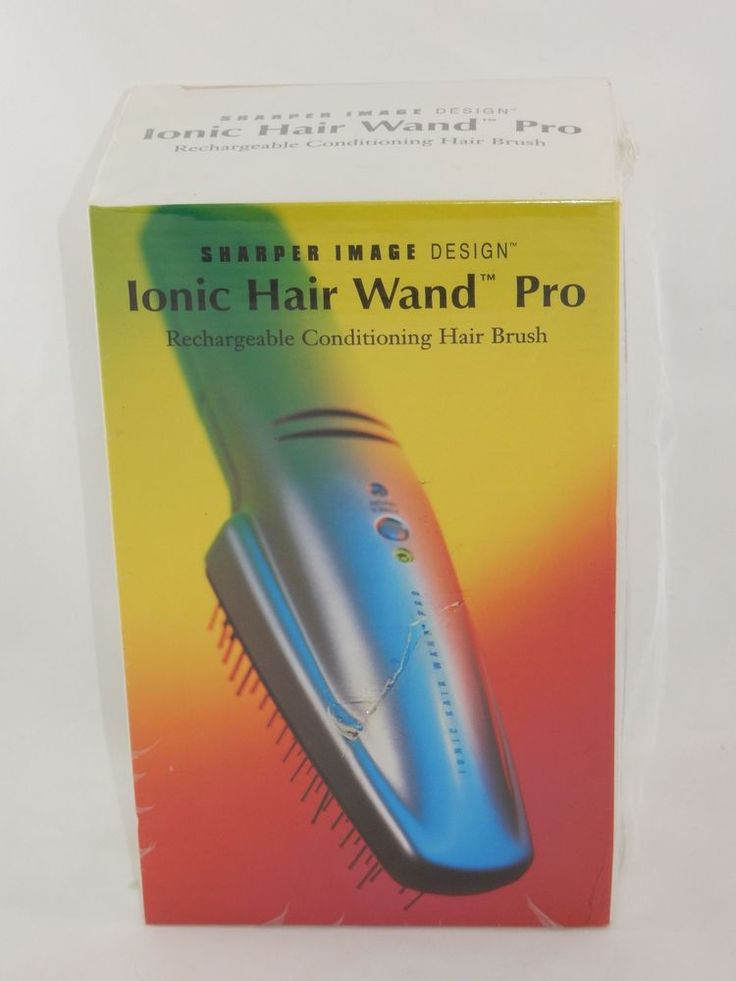 Sharper Image Ionic Hair Wand Pro Rechargeable Conditioning Hair Brush SEALED #SharperImage