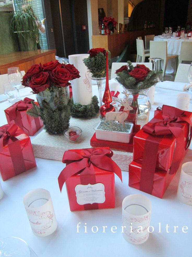 Fioreria Oltre/ Wedding at Christmastime centerpiece
