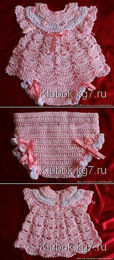 "Комплект для малышки [   ""Find and save knitting and crochet schemas, simple recipes, and other ideas collected with love."",   ""Booties, shoes, crocheted - Crafts // Галина Ашкинадзе"" ] #"