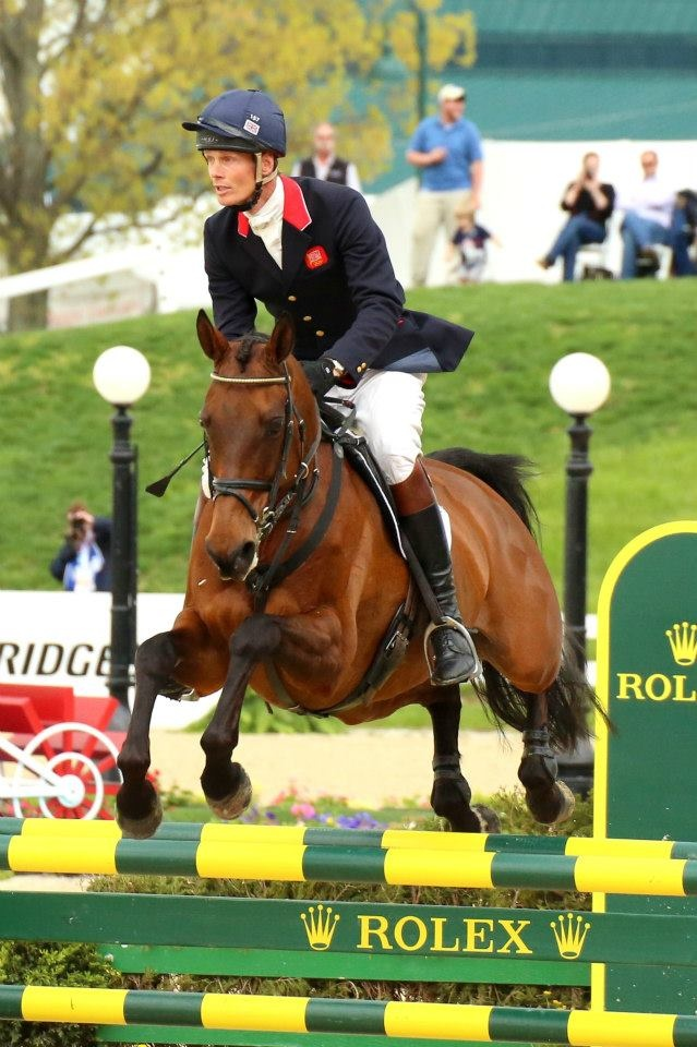 William Fox-Pitt in the show jumping phase of the Rolex 3 day eventing he was AWESOME!